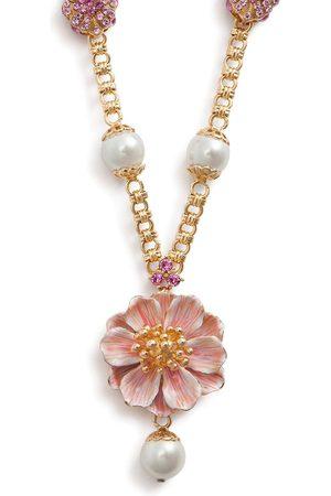 Dolce & Gabbana Flower bead chain necklace