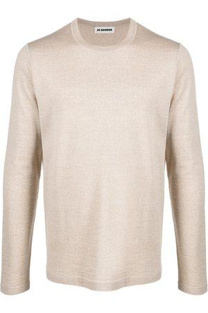 Jil Sander Men Sweatshirts - Fine knit crew neck jumper - Neutrals