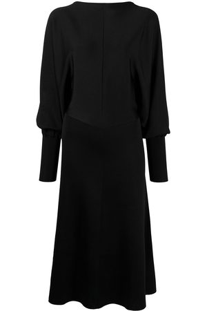 Victoria Beckham Women Party Dresses - Puff-sleeve mid-length dress