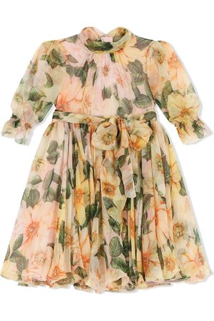 Dolce & Gabbana Girls Printed Dresses - Floral-print dress