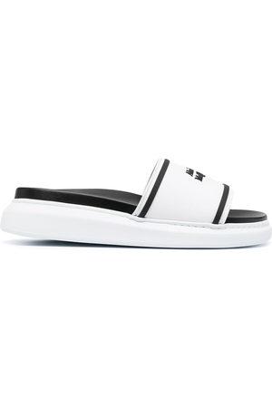 Alexander McQueen Women Sandals - Debossed logo slides