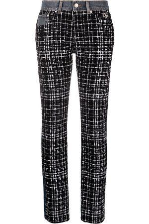 Dolce & Gabbana Tweed panel straight-leg jeans