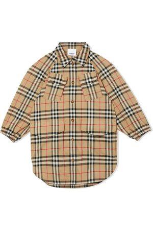 Burberry Girls Casual Dresses - Vintage check shirt dress - Neutrals