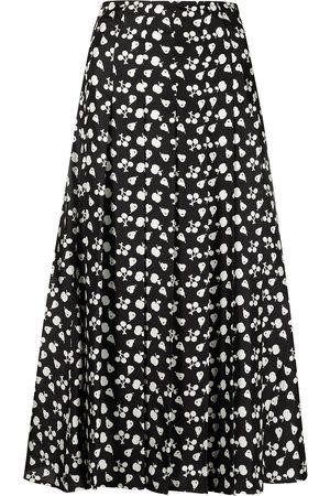 Victoria Beckham Women Printed Skirts - Fruit-print mid-length skirt