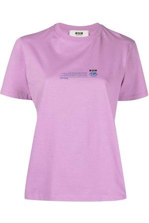 Msgm Women Short Sleeve - Graphic-print short-sleeve T-shirt
