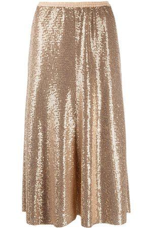 FORTE FORTE Metallic-tone midi skirt