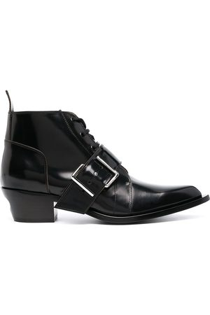 OFF-WHITE Buckle-detail lace-up boots