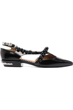 TOGA PULLA Pointed side-buckle ballerinas