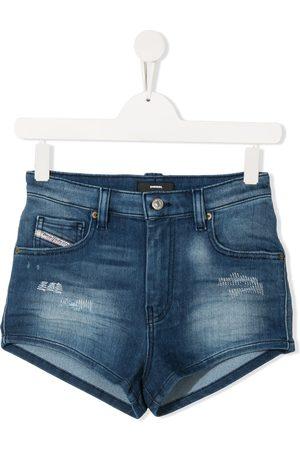 Diesel TEEN distressed denim shorts