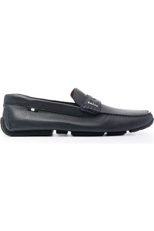 Bally Pebbled leather penny loafers