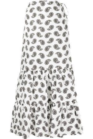 Msgm Women Printed Skirts - Paisley-print midi skirt