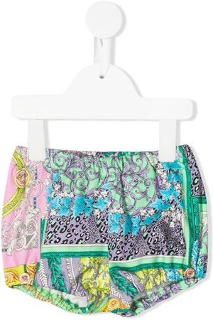 VERSACE Mixed-print bloomers