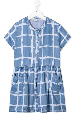 Stella McCartney Girls Casual Dresses - Check-print short-sleeve dress