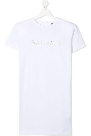 Balmain TEEN gem-embellished T-shirt dress