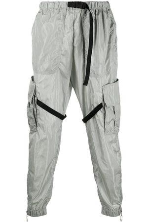 OFF-WHITE Men Cargo Pants - Elasticated-waist cargo pants - Grey