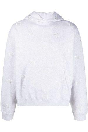 Alexander Wang Logo-embroidered hoodie - Grey