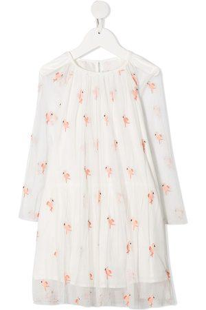Stella McCartney Embroidered flamingo dress