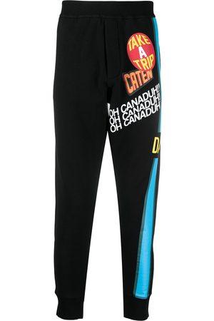 Dsquared2 Slogan print track trousers