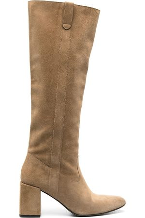 Ami Knee length mid-heel boots - Neutrals