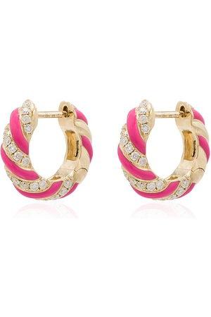 YVONNE LÉON Women Earrings - 9kt diamond hoop earrings