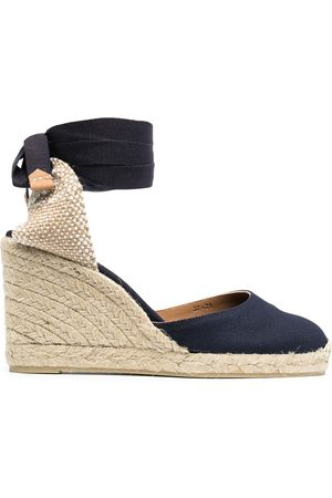 Castaner Women Wedges - Wedge-heeled espadrille with ankle ties