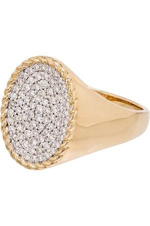 YVONNE LÉON 18kt diamond signet ring - METALLIC