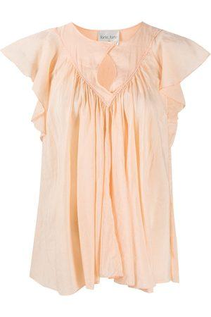 FORTE FORTE Ruffled short-sleeved blouse