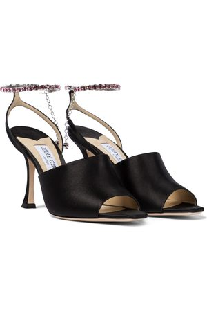 Jimmy Choo Sae 90 embellished satin sandals