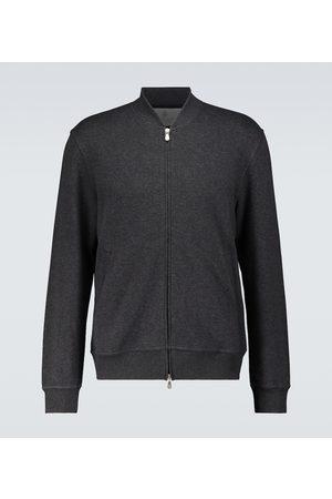 Brunello Cucinelli Cotton jersey zipped sweatshirt