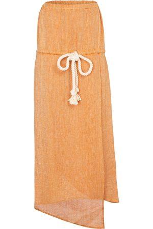 Lisa Marie Fernandez Victor linen-blend gauze midi dress