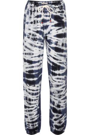 Tory Sport Tie-dye cotton-blend trackpants