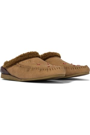VISVIM Faux shearling suede slippers