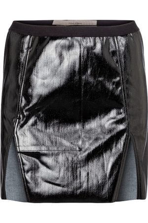 Rick Owens Coated denim miniskirt