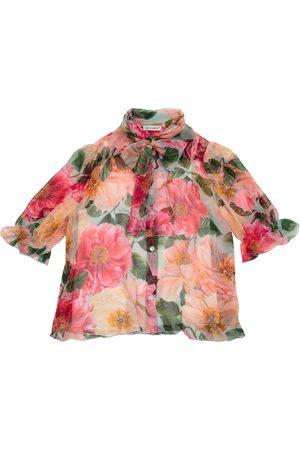 Dolce & Gabbana Girls Shirts - Floral silk shirt