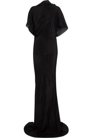 Rick Owens High-neck gown