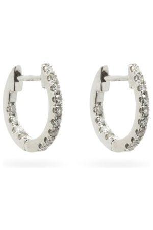 ROSA DE LA CRUZ Women Earrings - Diamond & 18kt Hoop Earrings - Womens
