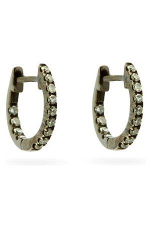 ROSA DE LA CRUZ Women Earrings - Diamond & Rhodium Earrings - Womens - Crystal