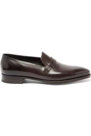 Men Loafers - John Lobb - Upton Monk-strap Leather Loafers - Mens
