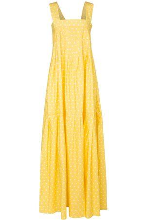 Plan C Polka-dot cotton poplin maxi dress