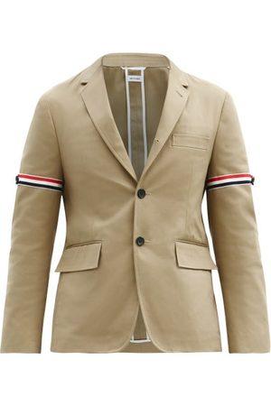 Thom Browne Tricolour-stripe Single-breasted Cotton Blazer - Mens