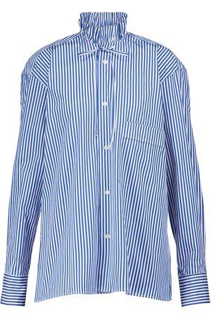 Plan C Pinstriped cotton blouse