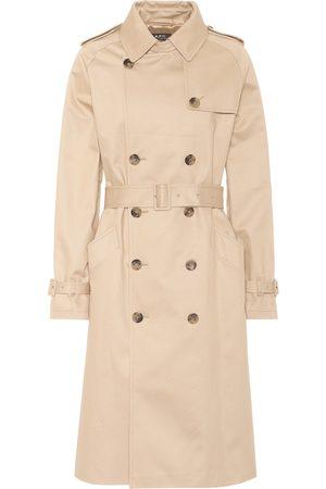 A.P.C. Women Trench Coats - Greta cotton gabardine trench coat
