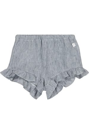 Il gufo Baby pinstriped linen shorts