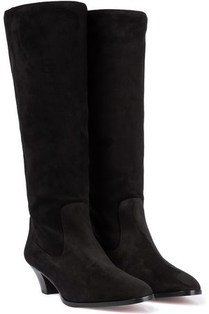 Aquazzura Boogie 45 suede knee-high boots