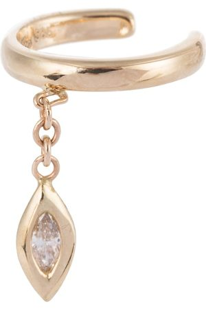 JACQUIE AICHE Marquise 14kt single ear cuff with diamond