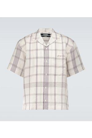 Jacquemus Men Denim - La Chemise Jean bowling shirt