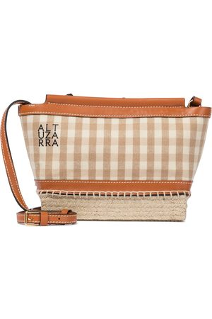 Altuzarra Espadrille Mini gingham crossbody bag