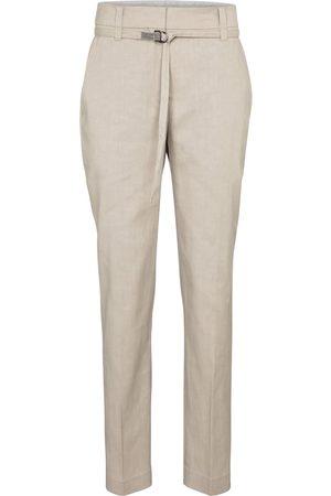 Brunello Cucinelli Stretch-linen and cotton slim pants