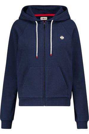Tory Sport Zip-through cotton hoodie