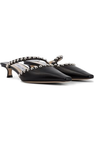 Jimmy Choo Ros 35 embellished leather pumps